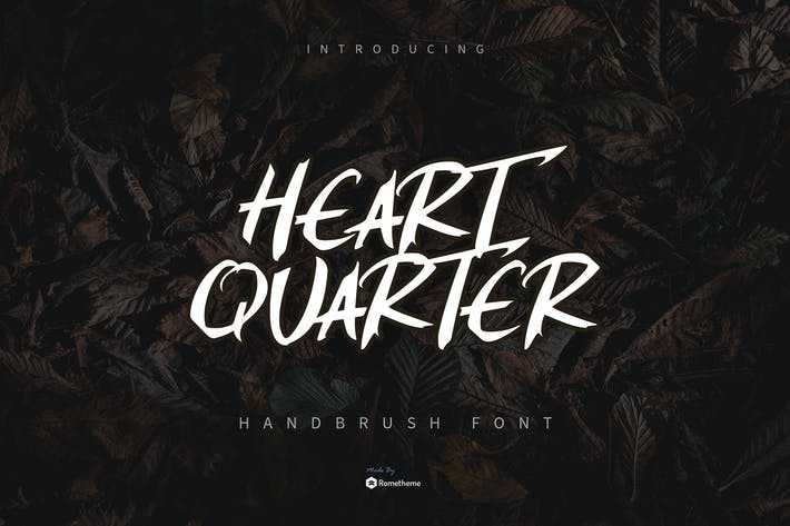 Thumbnail for Heart Quarter - Brust Font YR
