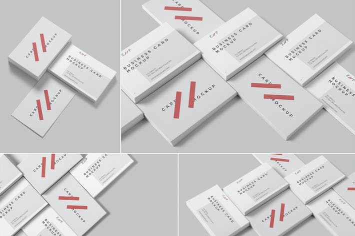 Thumbnail for Isometric Business Card Mockups