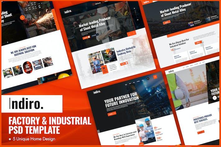 Indiro - Factory & Industrial PSD Template