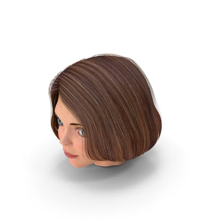 Cartoon Junge Mädchen Kopf