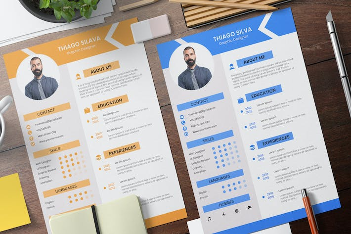 Thumbnail for Simple Resume Business Template