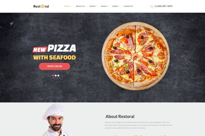 Thumbnail for Restoral - Food & Restaurant HTML Responsive Boots