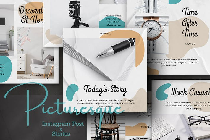 Picturesque Instagram Post and Stories