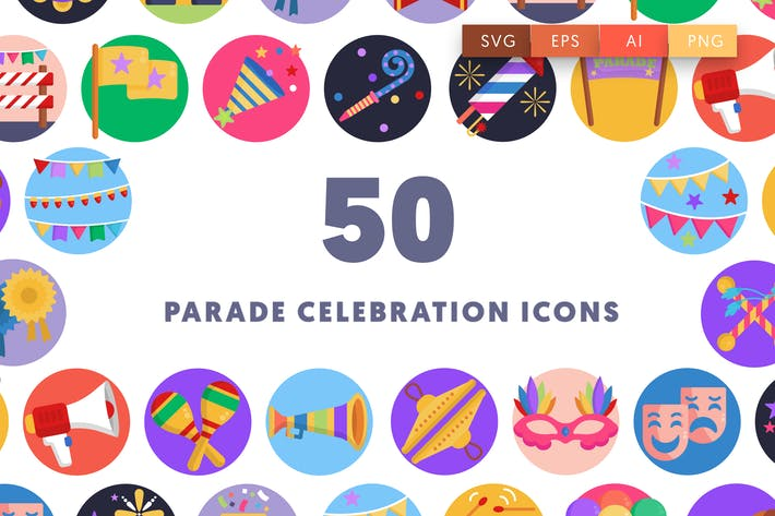 Thumbnail for Parade Celebration Icons