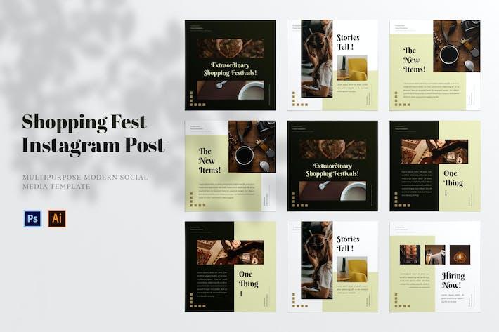 Thumbnail for Shopping Festival Social Media Post