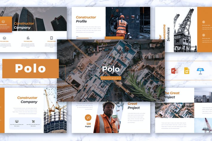 Cover Image For POLO - Construction Powerpoint/Google Slid/Keynote