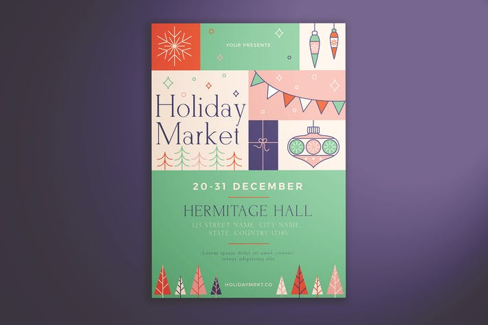 Thumbnail for Holiday Market Flyer