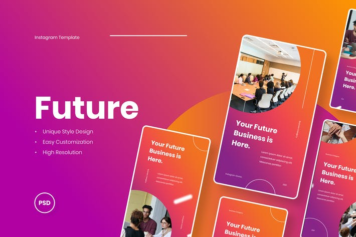 Thumbnail for Future Business Instagram Stories Template