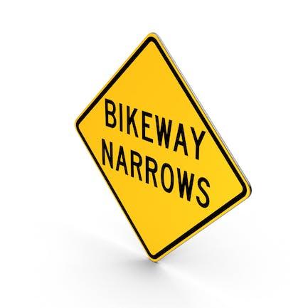 Bikeway Narrows Schild