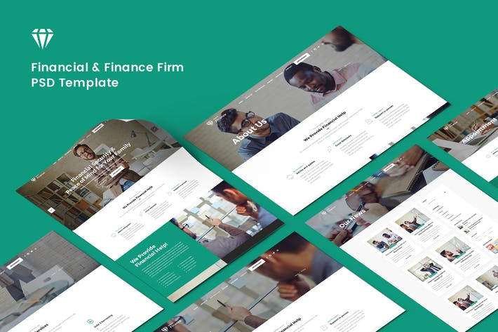 Thumbnail for Financial & Finance Firm PSD Template