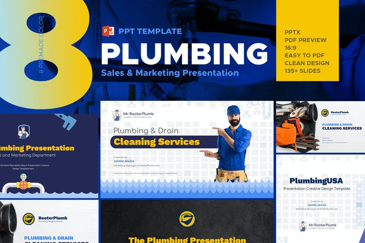 Thumbnail for Plumbing Industry Powerpoint Template