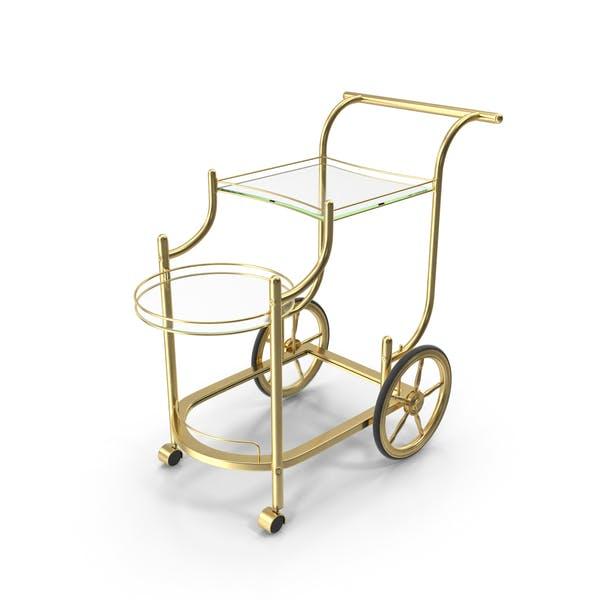 Luxury Golden Serving Trolley