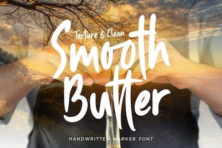 Smooth Butter - Handwritter Marker Font