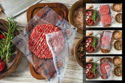 Hamburger Wrapping Paper Mockup