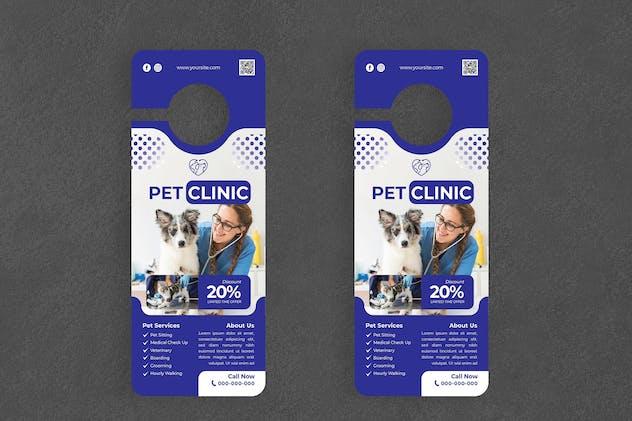 Pet Clinic Door Hanger Creative Promotion
