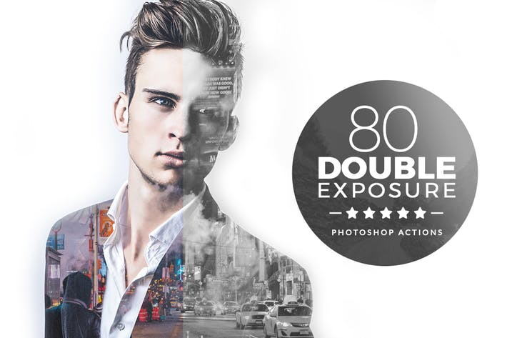 Thumbnail for Double Exposure Photoshop Actions