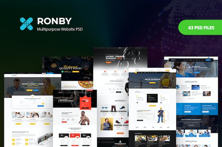 Thumbnail for Ronby - Multi-Purpose PSD Template