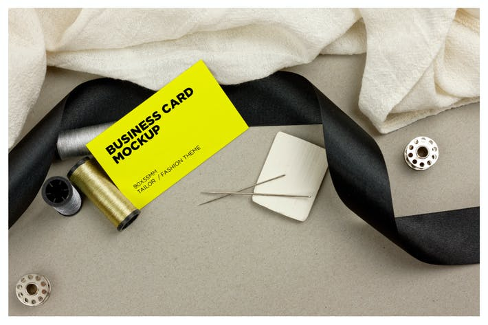 Thumbnail for Tailor / Fashion Business Cards Mockup