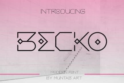 Becko | Future Sans