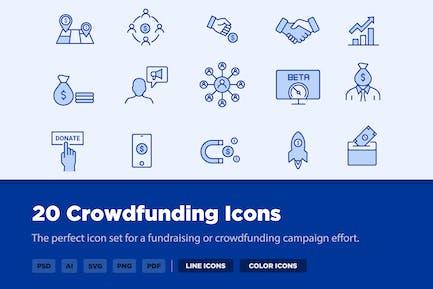30 Crowdfunding Icons