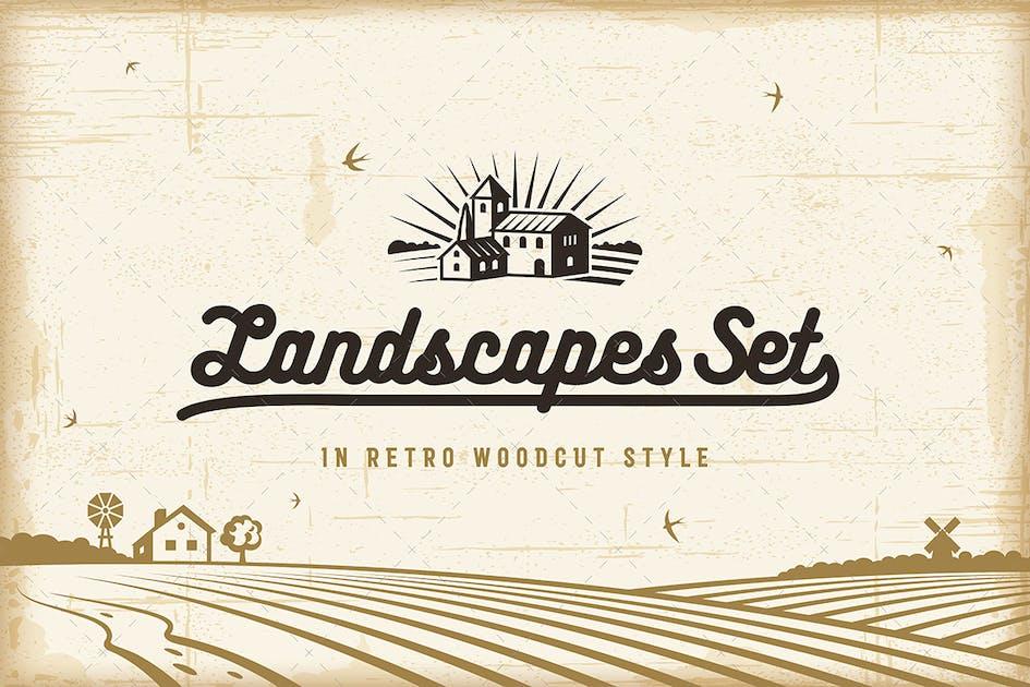 Download Retro Landscapes Set by iatsun