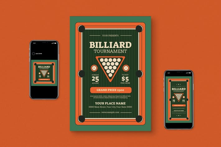 Thumbnail for Billiard Competition Flyer Set