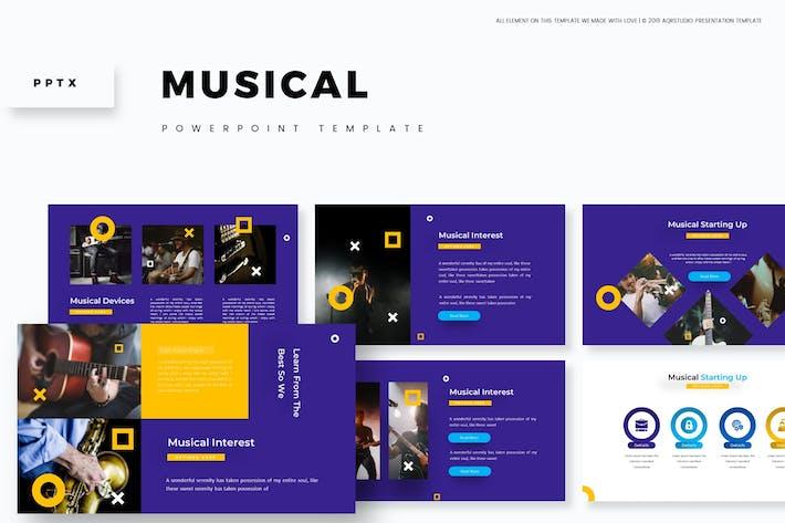 Thumbnail for Музыкальный - Powerpoint Шаблон
