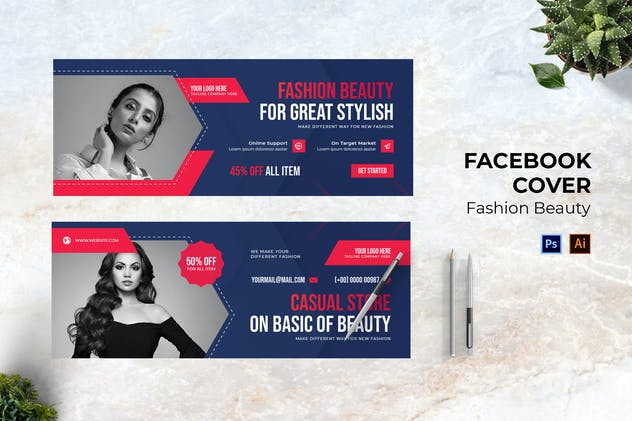Fashion Beauty Facebook Cover