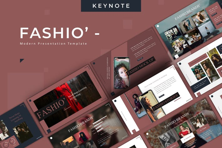 Thumbnail for Fashio - Keynote Template