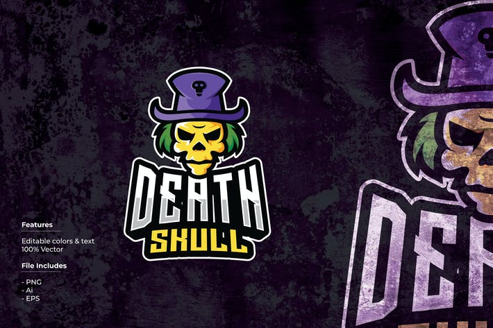 Thumbnail for Death Skull Sport and Esport Logo Template