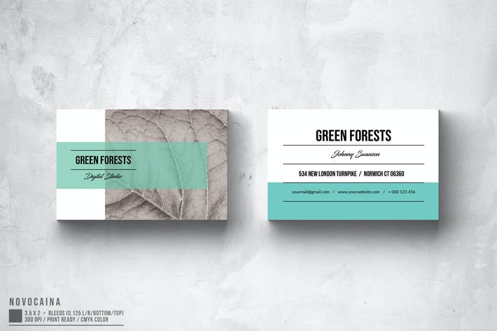 Thumbnail for Eco App Business Card Design