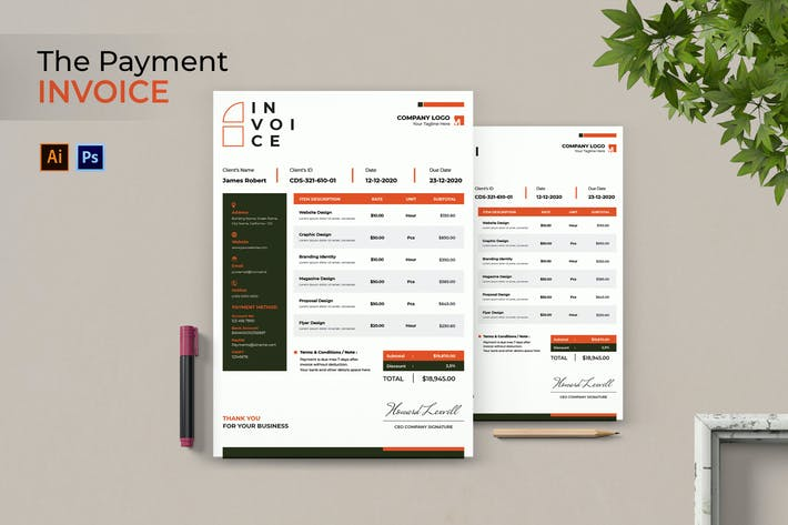 Thumbnail for Creative Payment Invoice