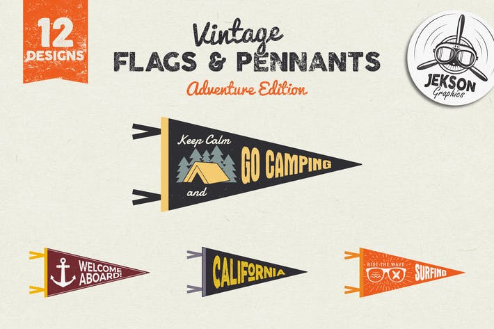 Thumbnail for Adventure Pennants & Vintage Flags / Logo