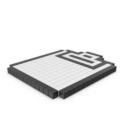 Icono del portapapeles pixelado