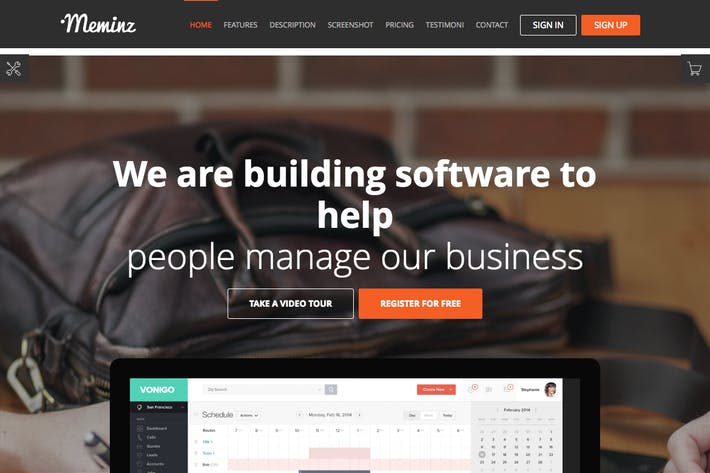 Thumbnail for Meminz - Download Software Landing Page Theme