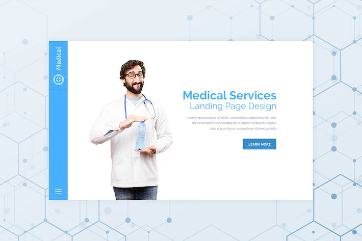 Thumbnail for Medical - Hero Banner Web Page Template