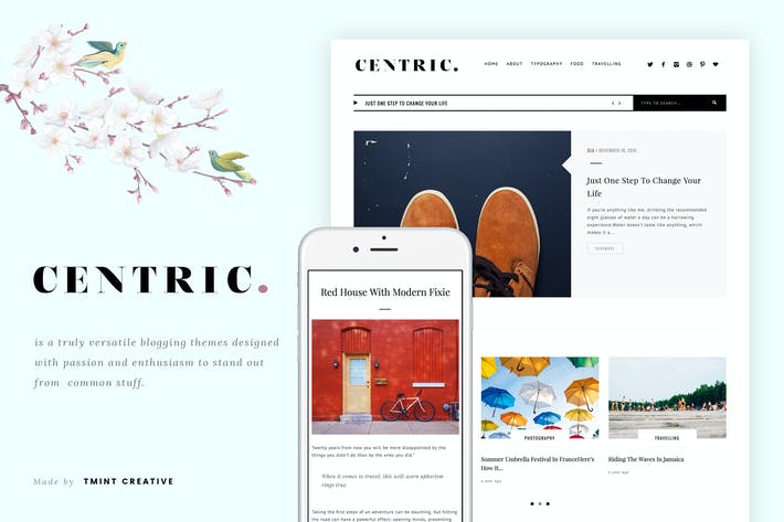 Thumbnail for Centric - A Versatile Tumblr Theme