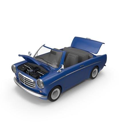 Cartoon Car Open Hood