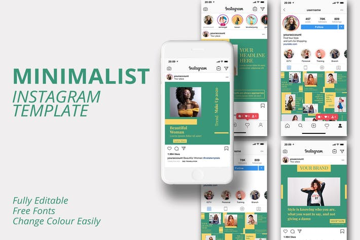 Thumbnail for MS - Minimalist Instagram Template Vol 3