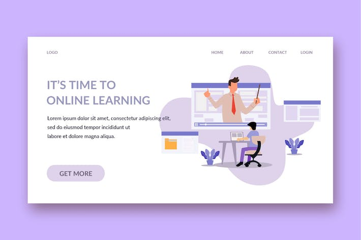 Thumbnail for online learning landing page template
