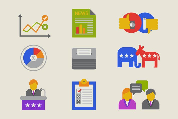 Icones de campagne électorale
