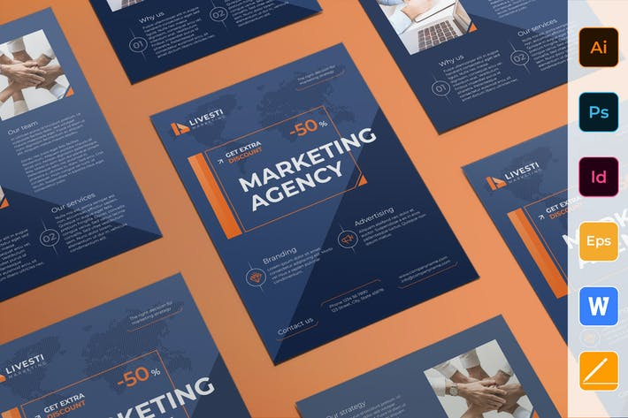 Thumbnail for Marketing Agency Flyer