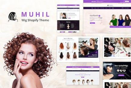 Muhil - Peluca de pelo, extensiones de cabello Shopify Tema