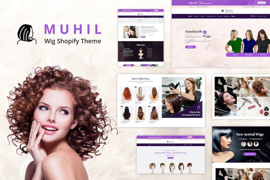 Muhil - Парик волос, Наращивание волос Shopify Тема