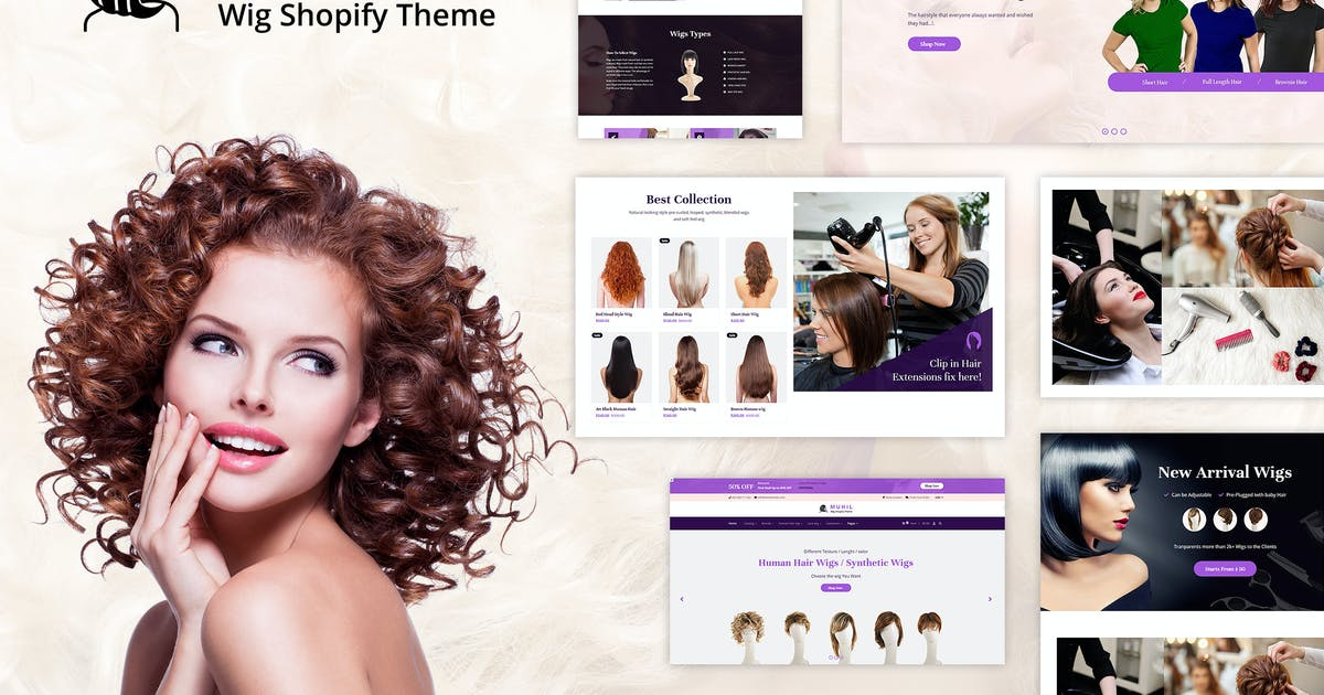 Download Muhil - Hair Wig, Hair Extensions Shopify Theme by BuddhaThemes