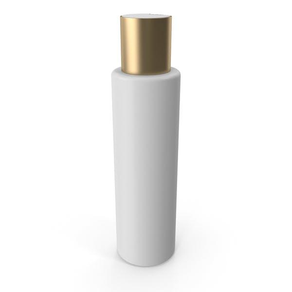 Пластиковая косметическая бутылка с золотой крышкой