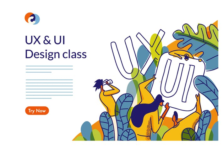 Thumbnail for UX UI Design Class Web template
