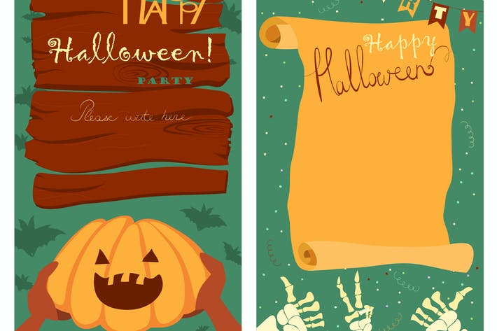 Thumbnail for Trick or treat. Halloween poster background card.