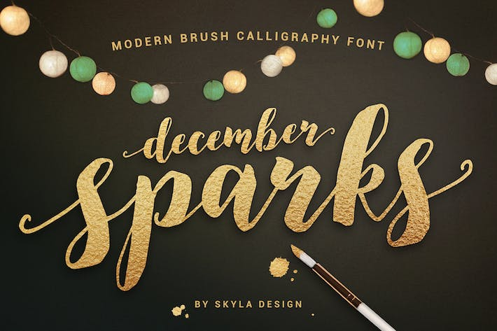 Thumbnail for Modern brush font, December Sparks