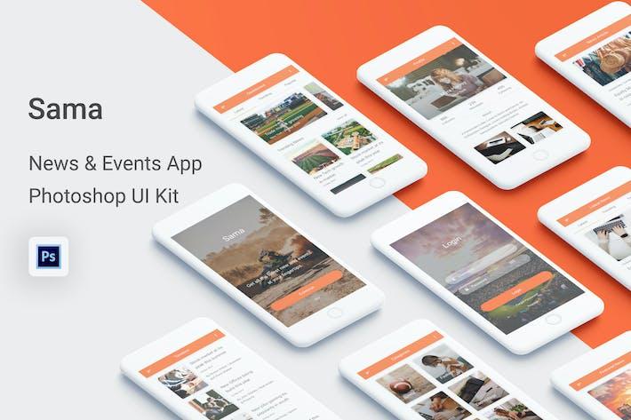 Thumbnail for Sama - News & Events UI Kit for Photoshop